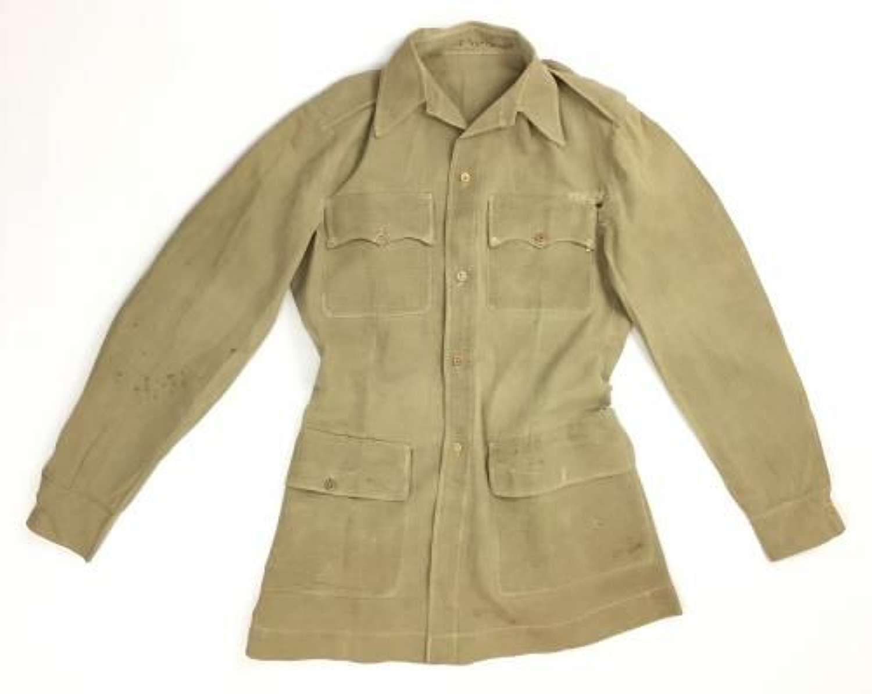 Original WW2 Era British Khaki Drill Airtex Shirt