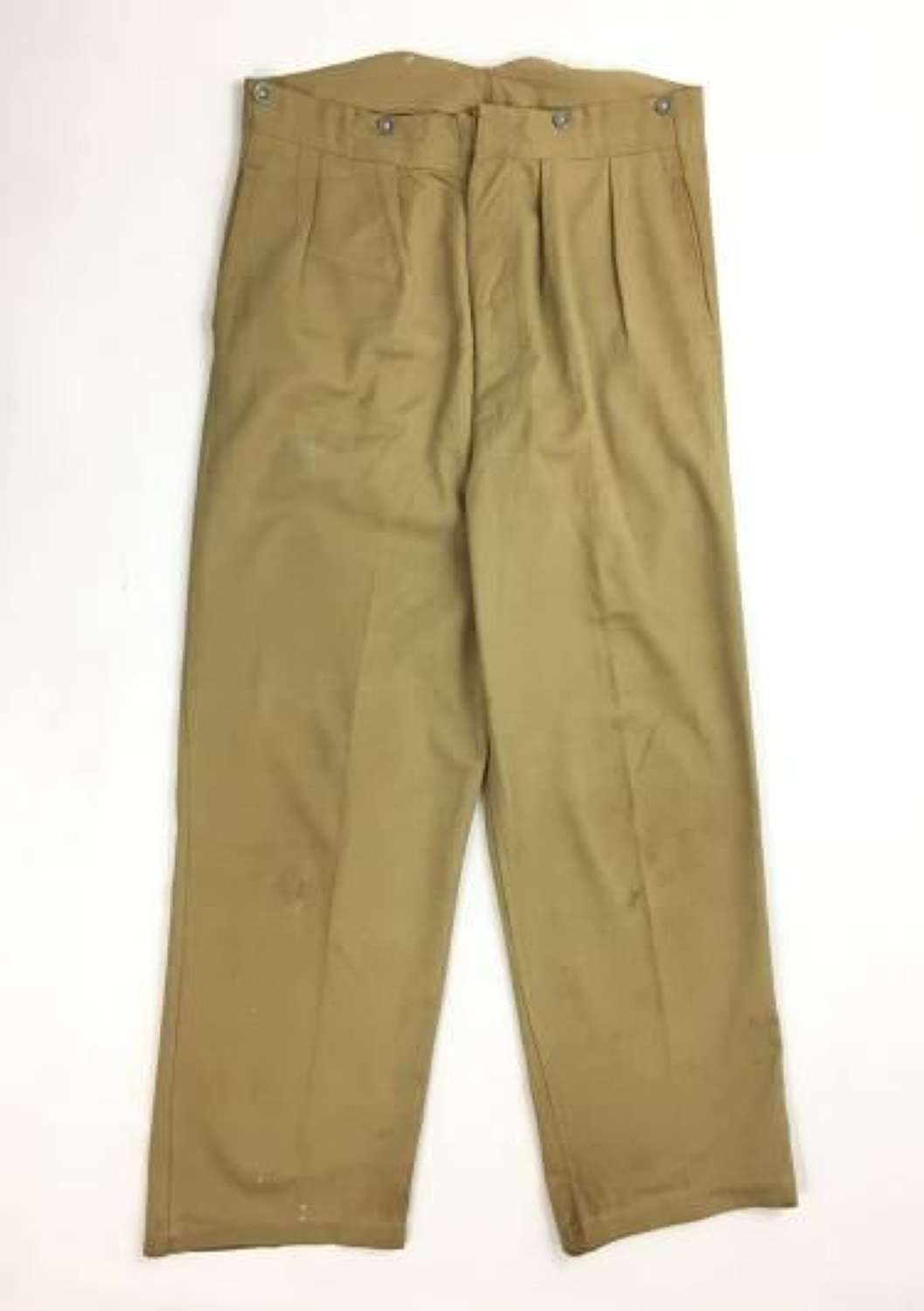 Original 1943 Dated Indian Made Khaki Drill Trousers