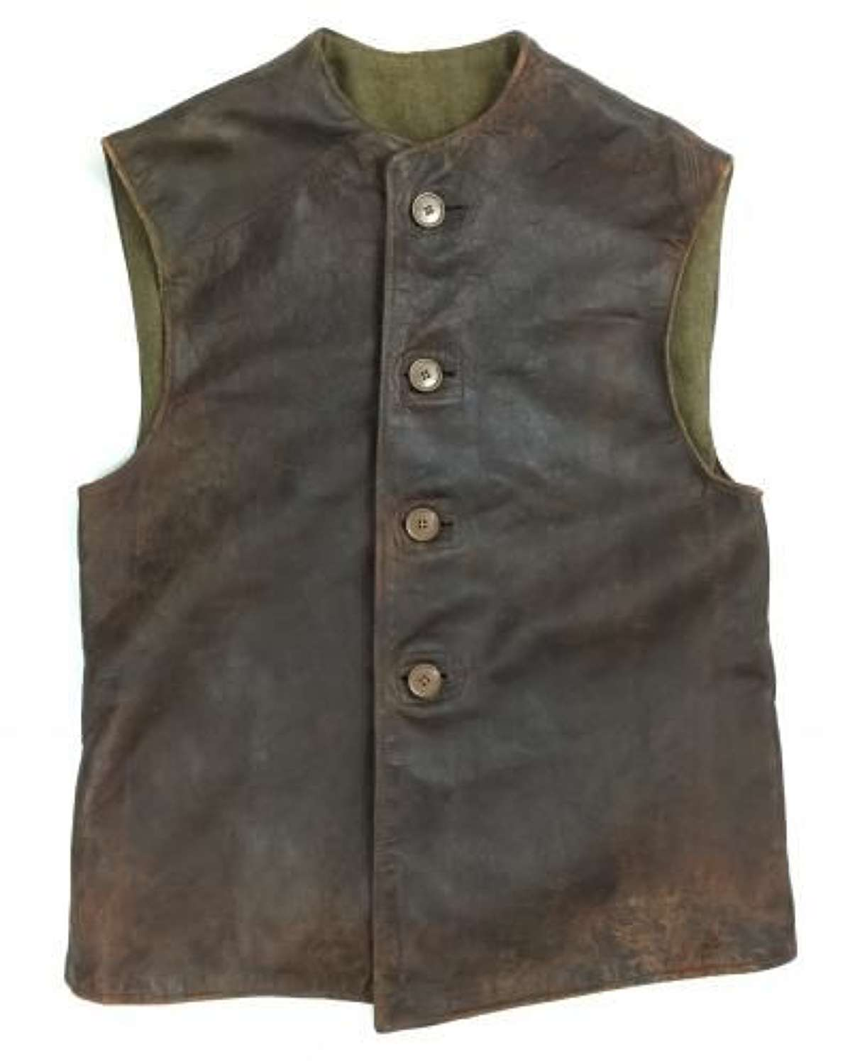 Original 1944 Dated 'Jerkins, Leather, No.2 Camouflaged' - Size 2