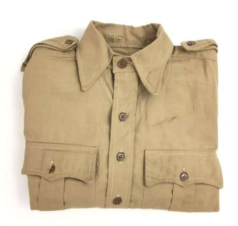 Original Un-issued WW2 British Army Khaki Drill Shirt