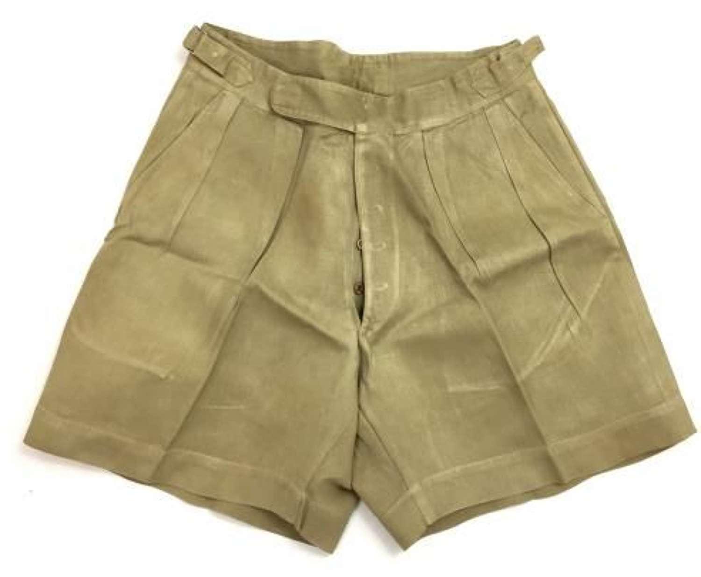 """Original WW2 Era British Khaki Drill Shorts - 35"""""""