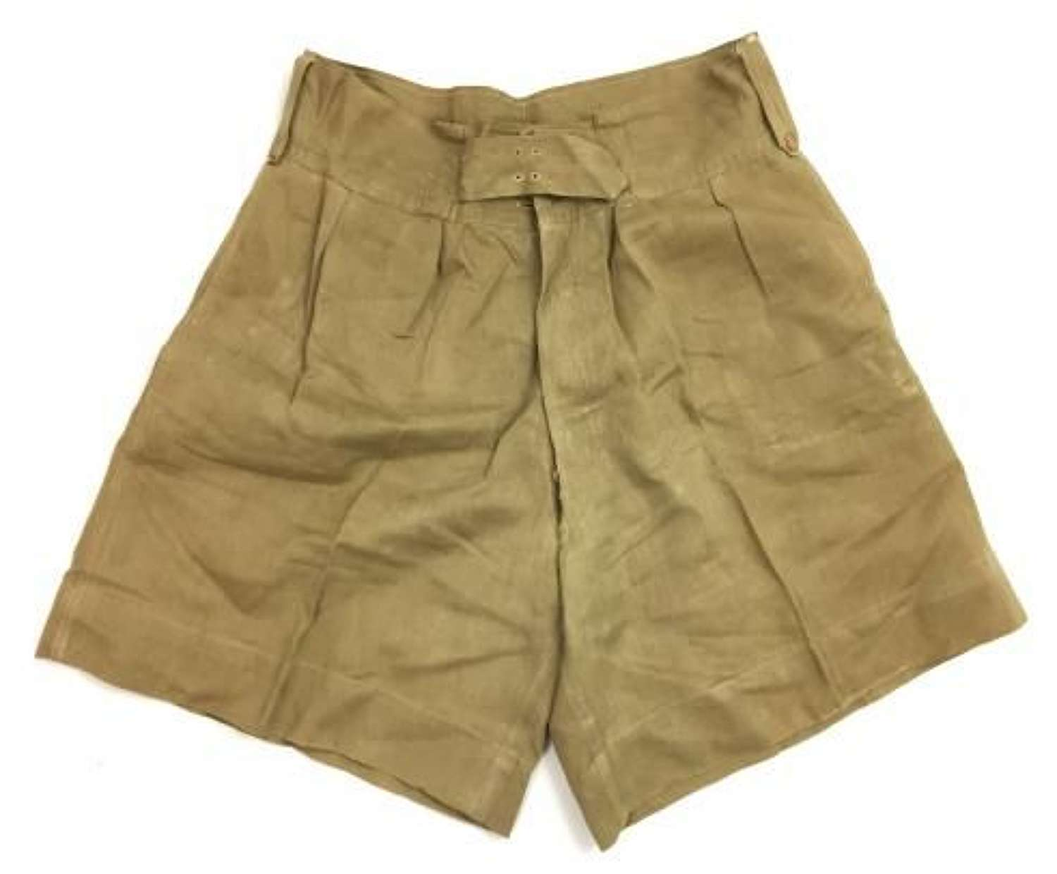 Original WW2 Period British Khaki Drill Shorts - 36""