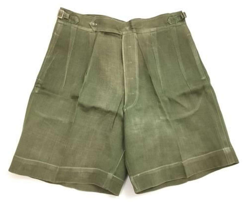 Original WW2 Era British Jungle Green Shorts - Indian Made (2)