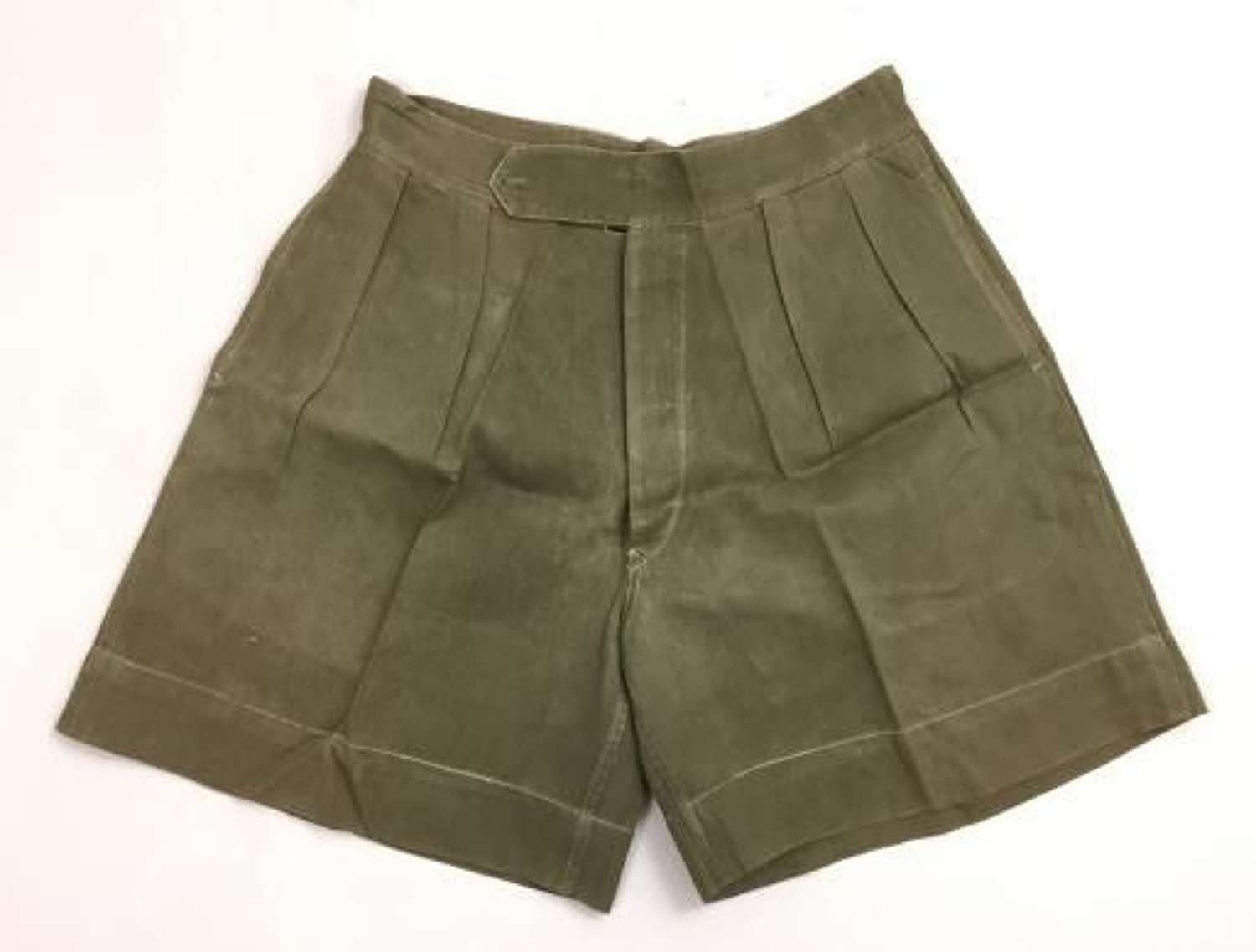 Original WW2 Era British Jungle Green Shorts - Indian Made 34