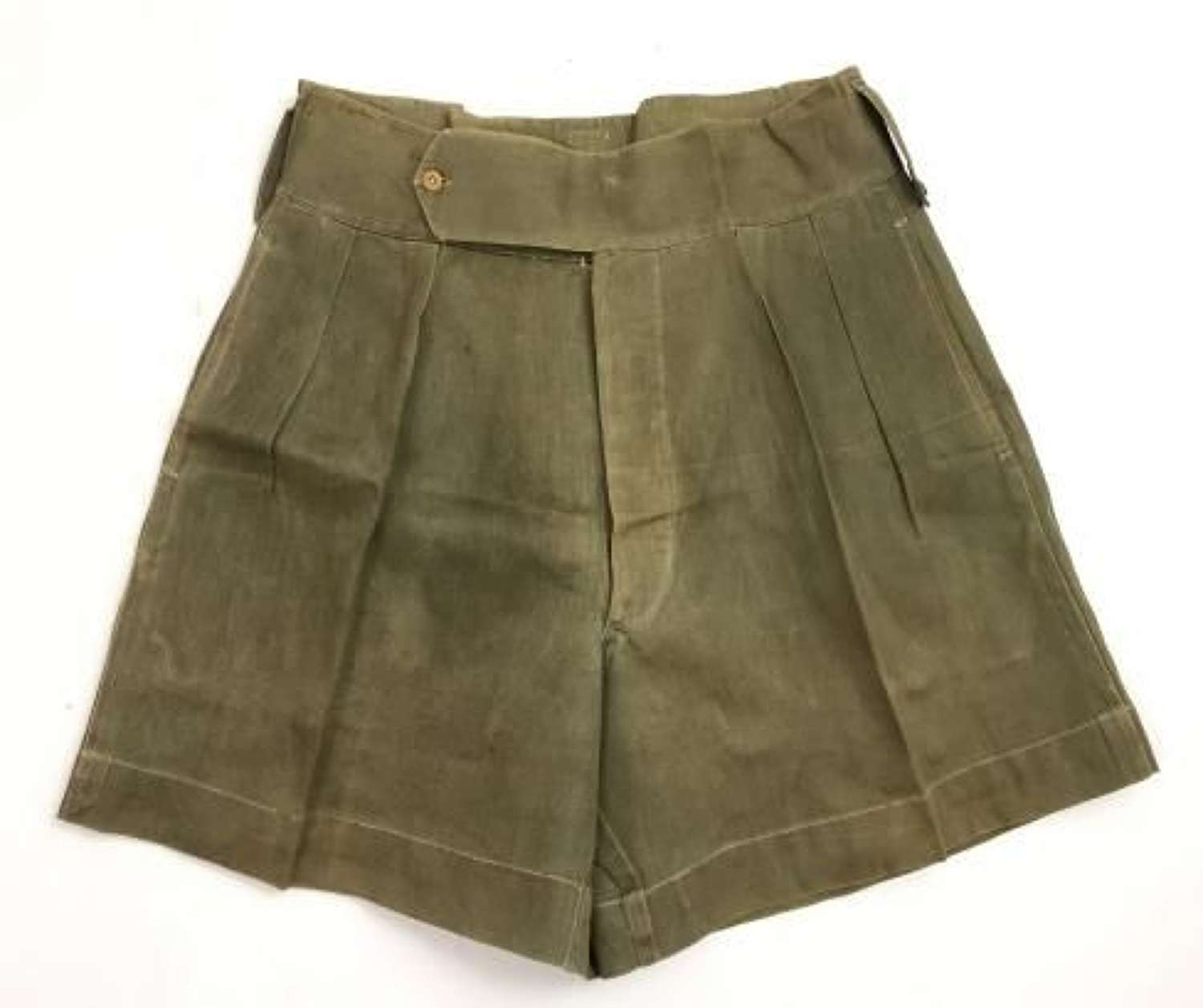 Original WW2 Era British Jungle Green Shorts - Indian Made