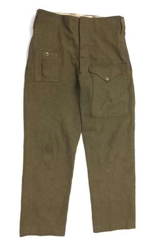 Original WW2 American Made War Aid British Army Battledress Trousers
