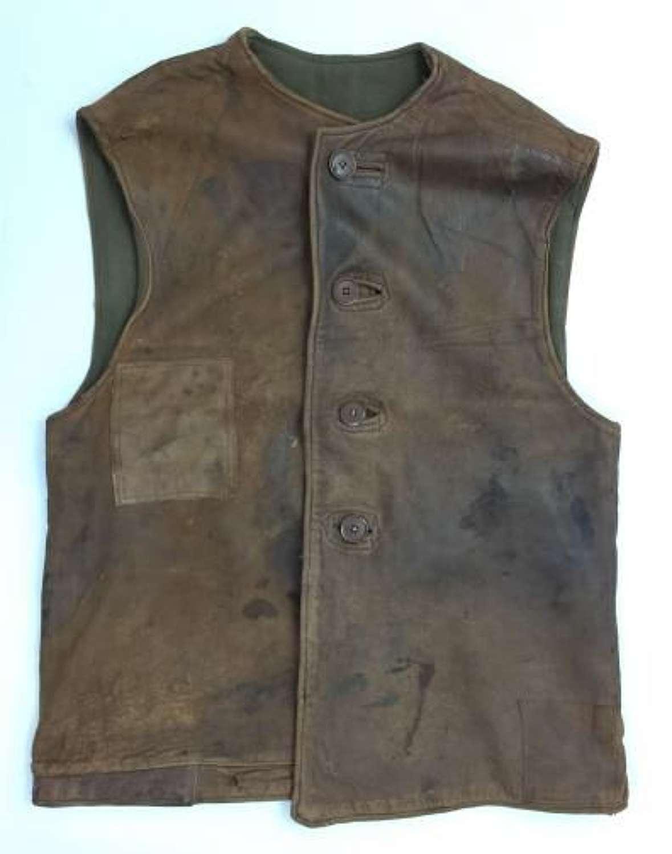 Original WW2 British Army Leather Jerkin - Size 2