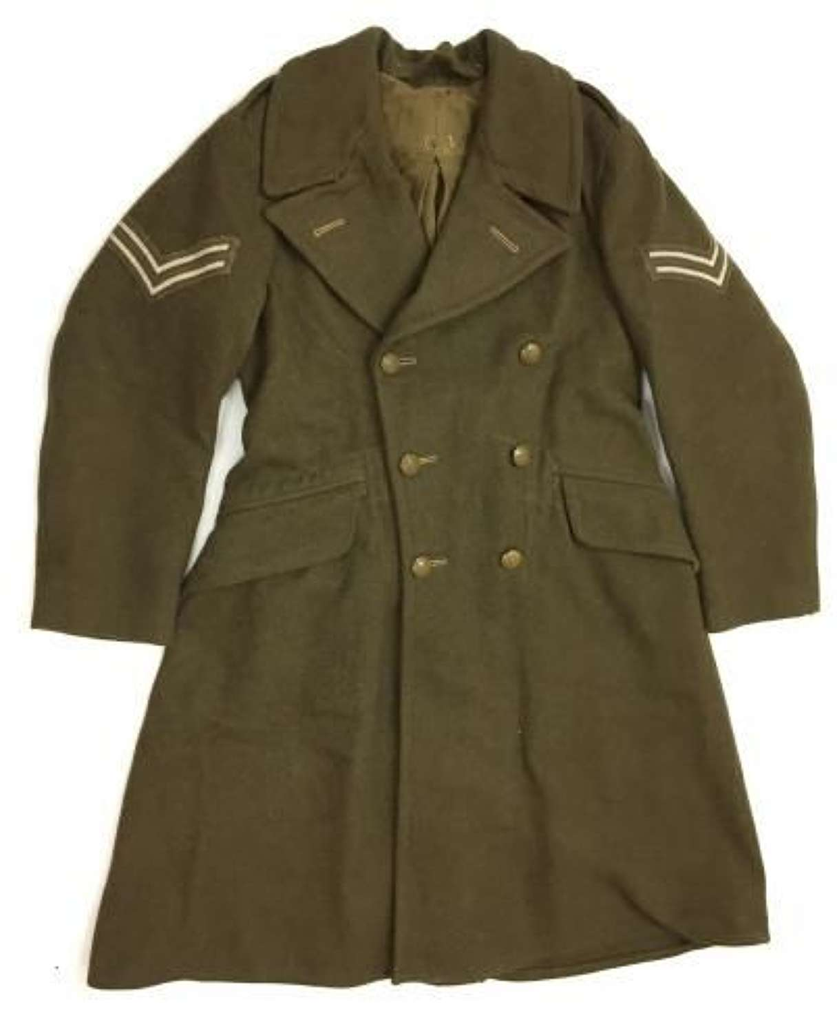 Original British Army 1940 Pattern (Dismounted) Greatcoat - Size 1