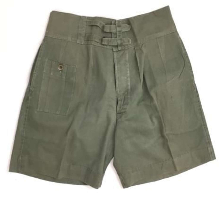 Scarce Original WW2 British Jungle Green Shorts