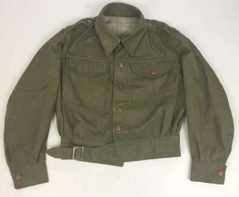 Original 1953 Dated British Army Denim Battledress Blouse
