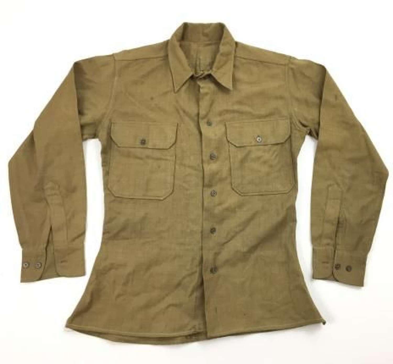 Original British Officer Atributed US Enlisted Men's Shirt
