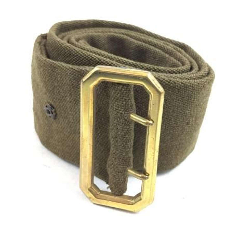 Original WW2 Officers Service Dress Cloth Belt