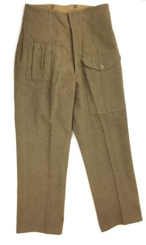 Original 1944 Dated British Army 1940 Pattern (Austerity) Battledress Trousers