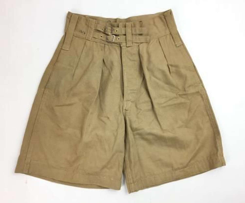 Original 1948 Dated British Army / RAF Khaki Drill shorts