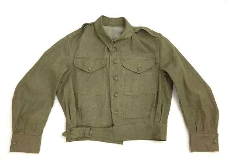 1953 Dated British Army Denim Battledress Blouse - Size 6