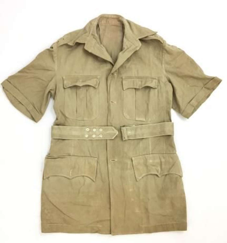 Original WW2 Era British Army Officers Khaki Drill Tunic + Belt