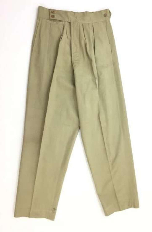 Original WW2 Period British Army Khaki Drill Trousers