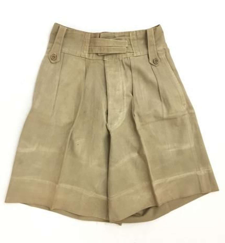 Original WW2 Era British Army Khaki Drill Shorts