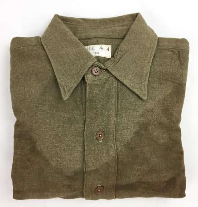 1945 Dated Brtish Army Ordinary Ranks Collared Shirt