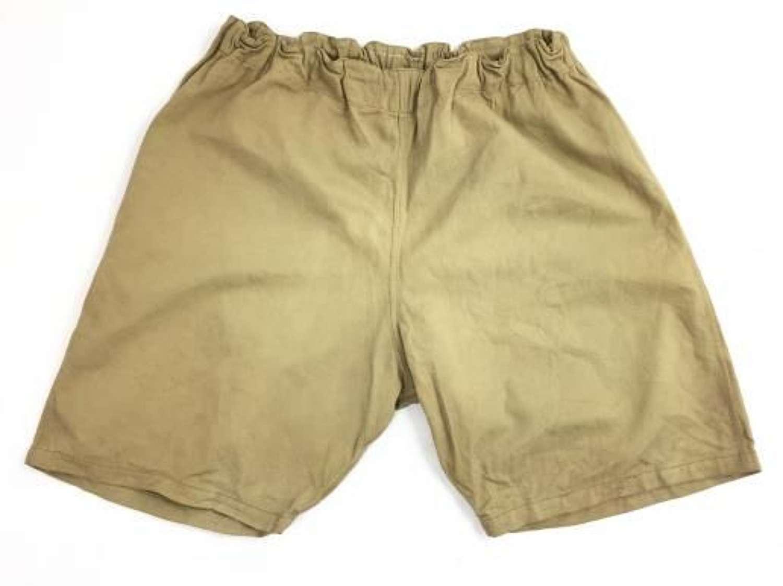 1940 Dated British Army PT Shorts - Khaki
