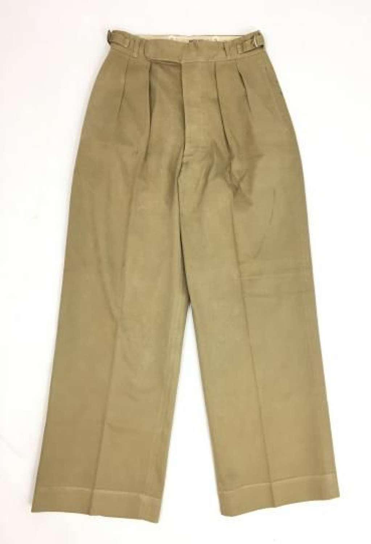 Orignal WW2 British Officers Khaki Drill Trousers by 'Austin Reed'