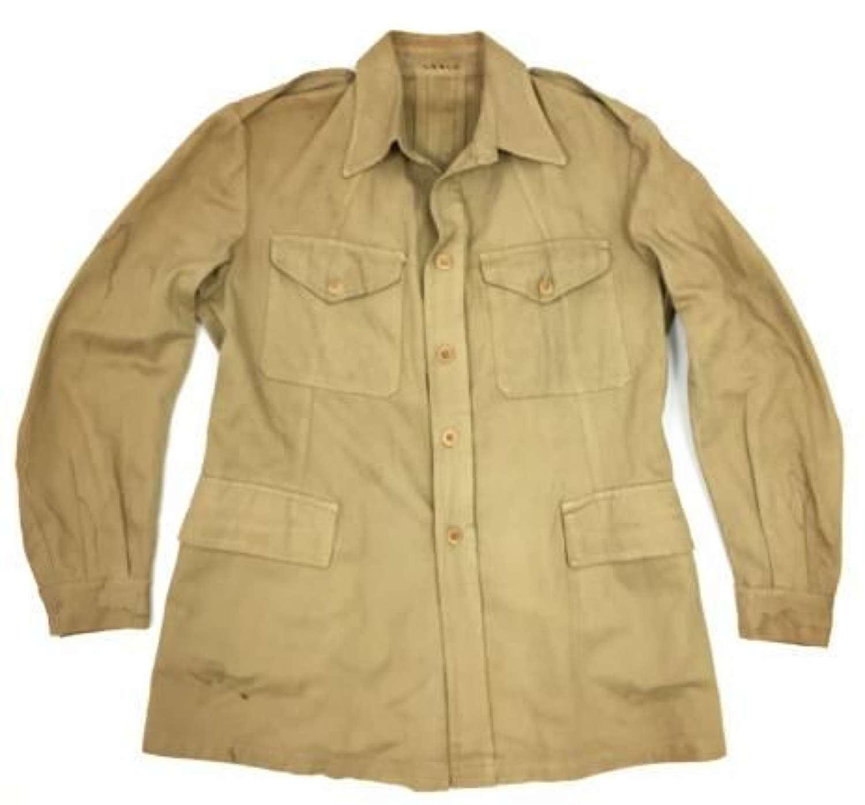 Original WW2 Period Britsh Army Khaki Drill Bush Jacket - Large Size