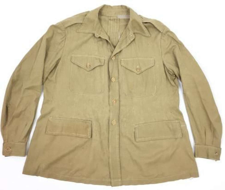 Original WW2 British Army Officers KD Bush Jacket - Large Size