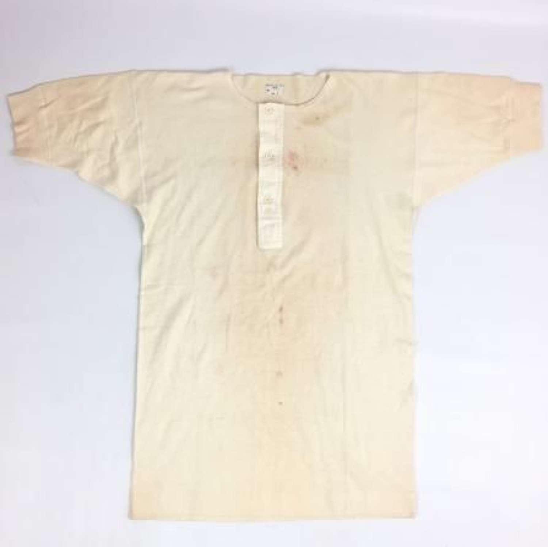 Original 1945 Dated British Army Under Shirt by 'Klynton Hsy Ltd'