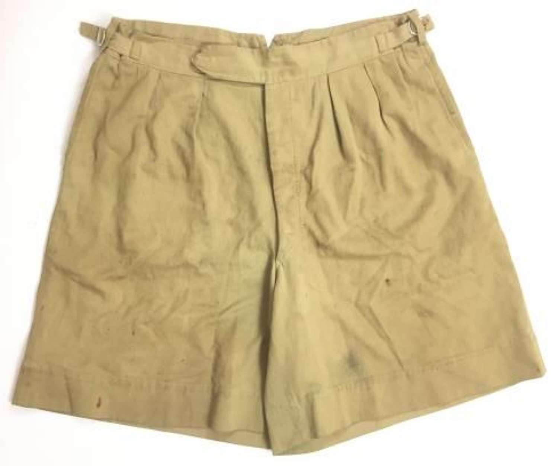 Original WW2 British Army Khaki Drill Shorts - Large Size