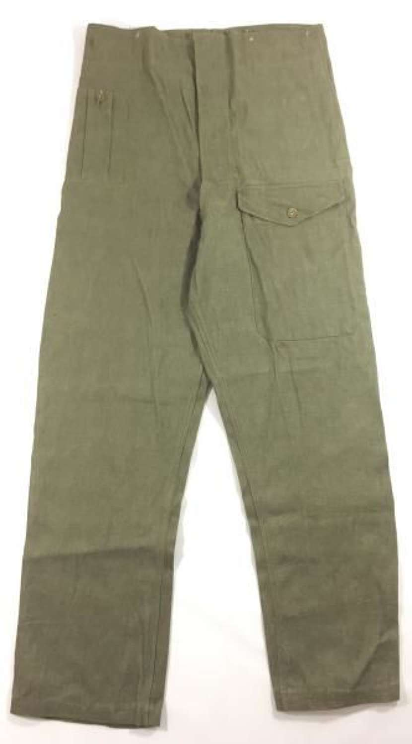 1952 Dated British Army Denim Trousers - Size 9