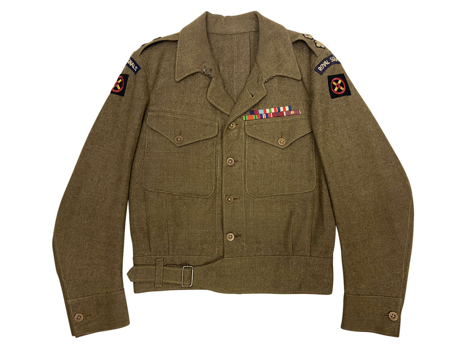 Original Private Purchase Battledress Blouse to a Royal Signals Lt/Col