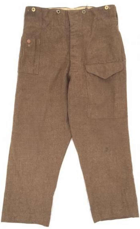 Original 1940 Pattern Battledress Trousers - Large Size!