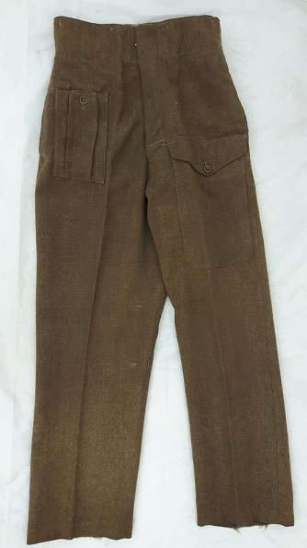 Original 1943 Dated 1940 Pattern (Austerity) Battledress Trousers - Size No.4