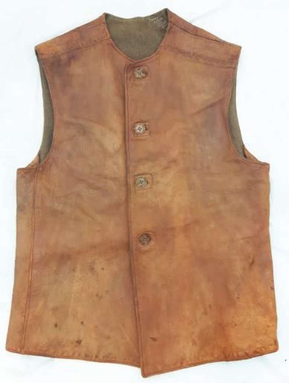 Original 1943 Dated Leather Jerkin - Large size 3!