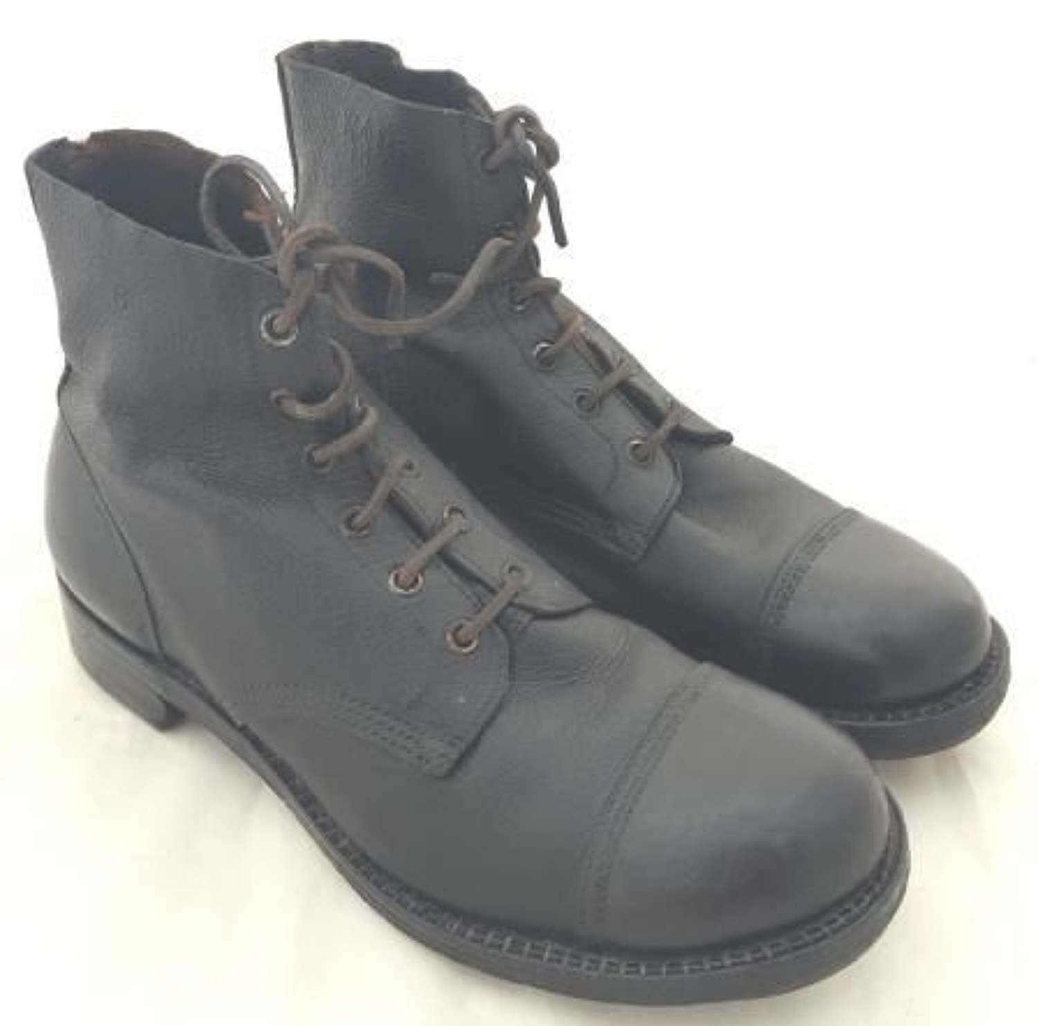 1944 Dated British Army Ammunition Boots - Size 8