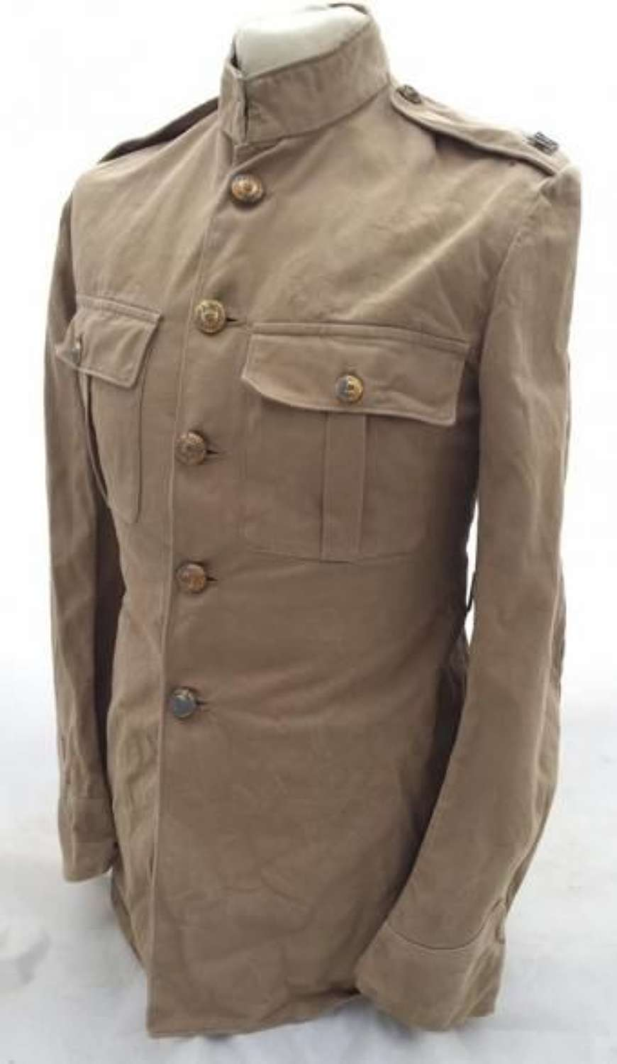 Original Pre-War Royal Marines Khaki Drill Service Dress Tunic