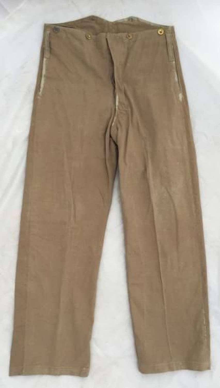 Original Pre-War Khaki Drill Service Dress Trousers