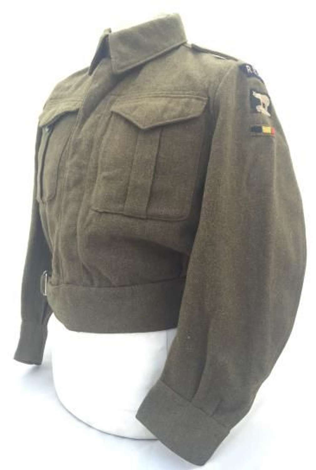 1944 Dated Canadian Made Battledress Blouse With REME 49 Division insignia
