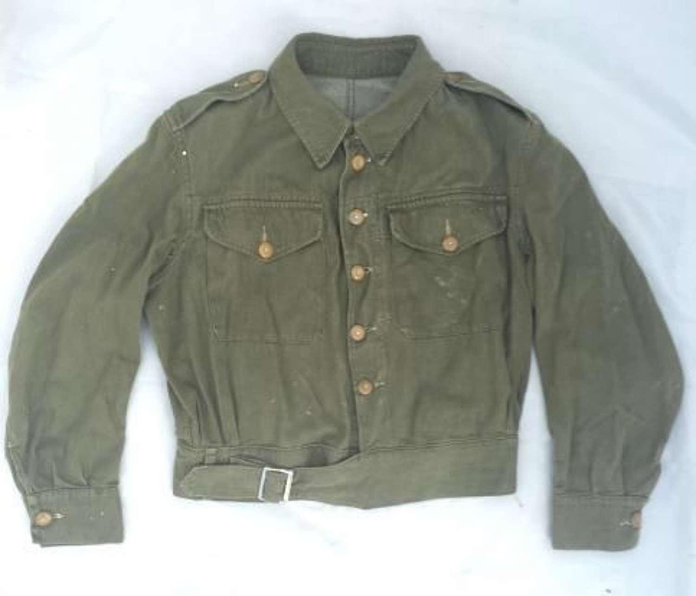 1955 Dated Overalls Denim Battledress Blouse