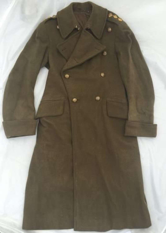 Original Wartime RAOC Officers Greatcoat