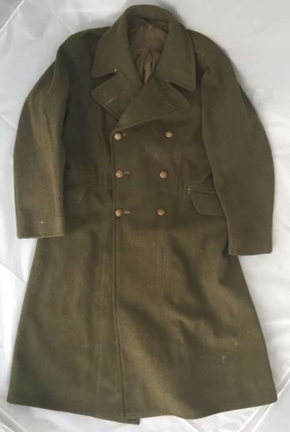 1943 Dated WW2 1940 Pattern British Army Greatcoat - Size 8