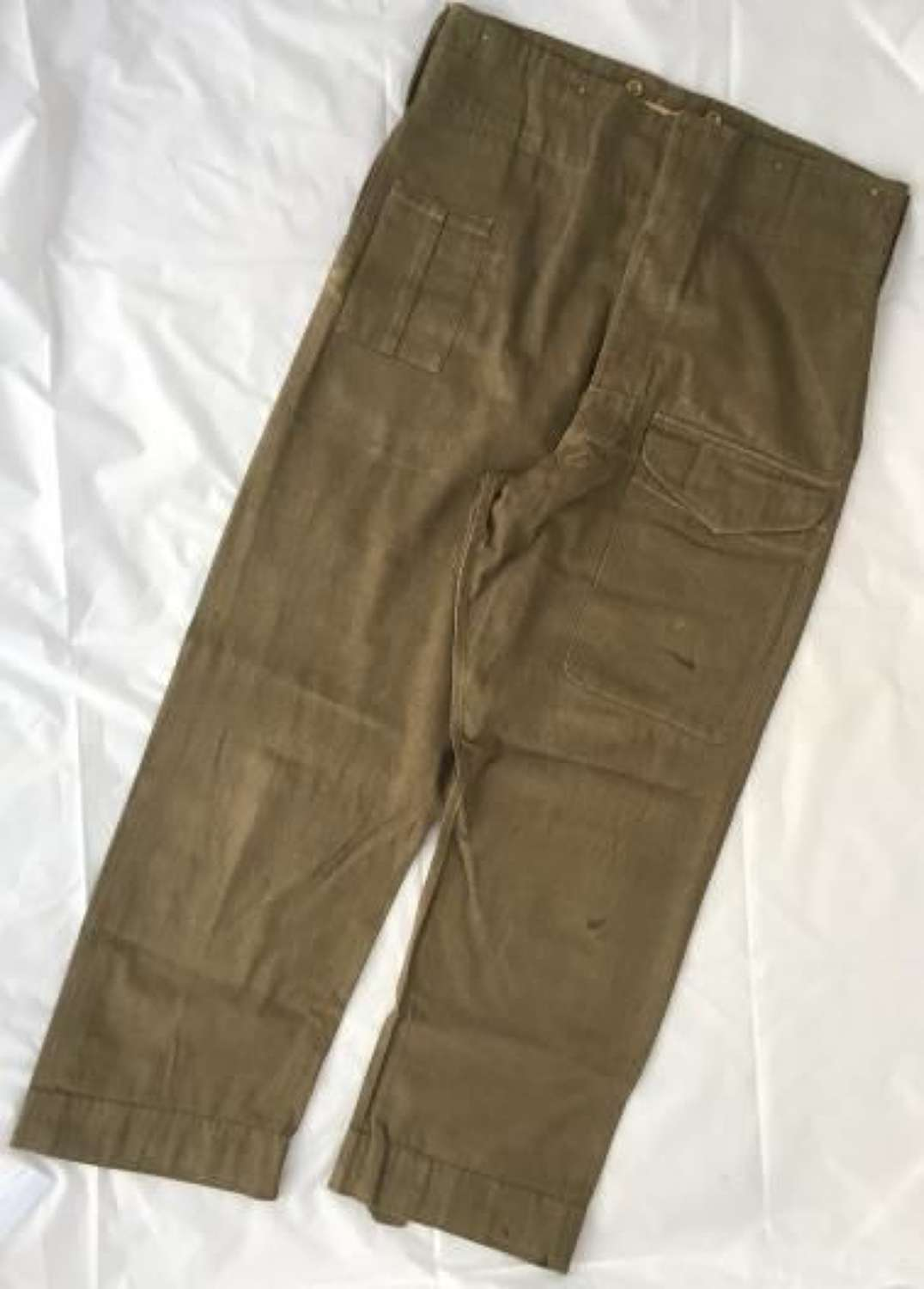 Scarce Original First Pattern Denim Battledress Trousers as used by the Home Guard