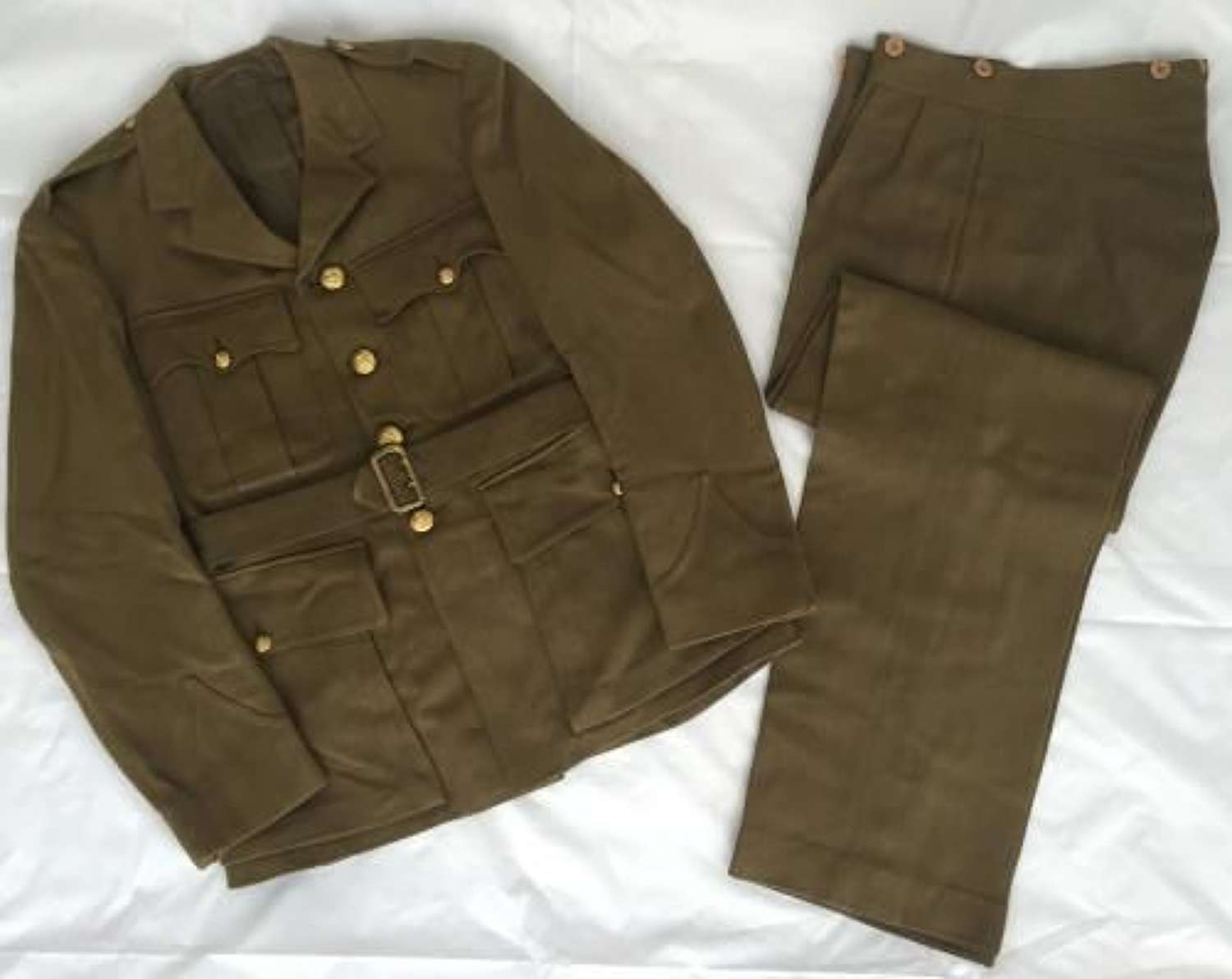 Original Wartime Royal Artillery Officers Service Dress Jacket and Trousers