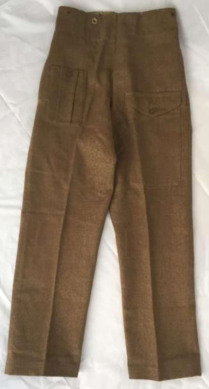 1943 Dated 1940 (Austerity) Pattern Battledress Trousers - Size 7