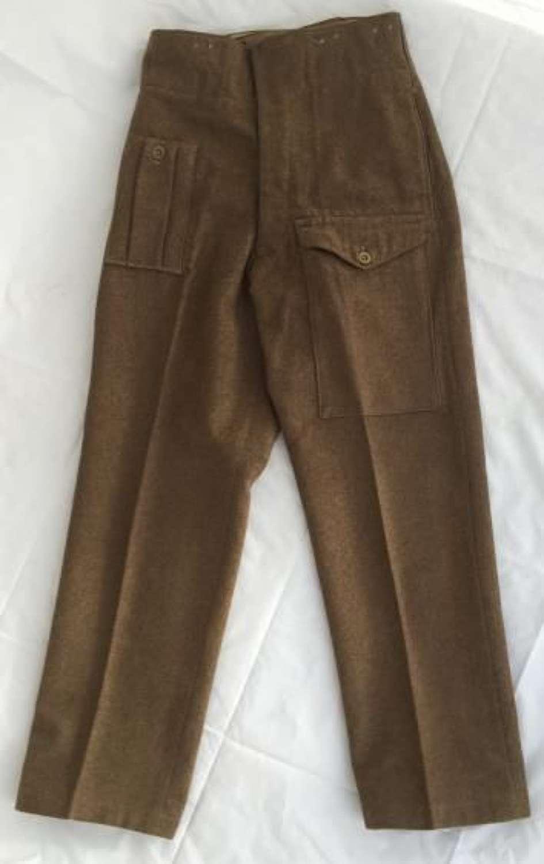 1946 Dated 1946 Pattern Battledress Trousers - Size 7