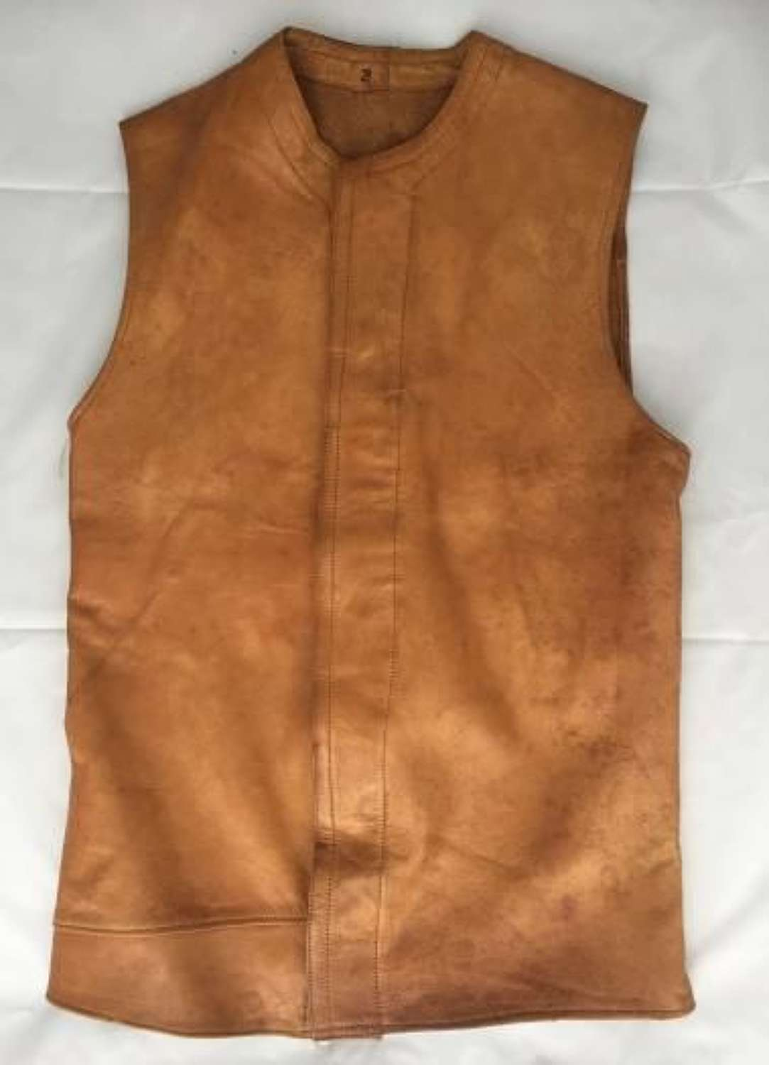 Rare Indian Made British Army Leather Jerkin