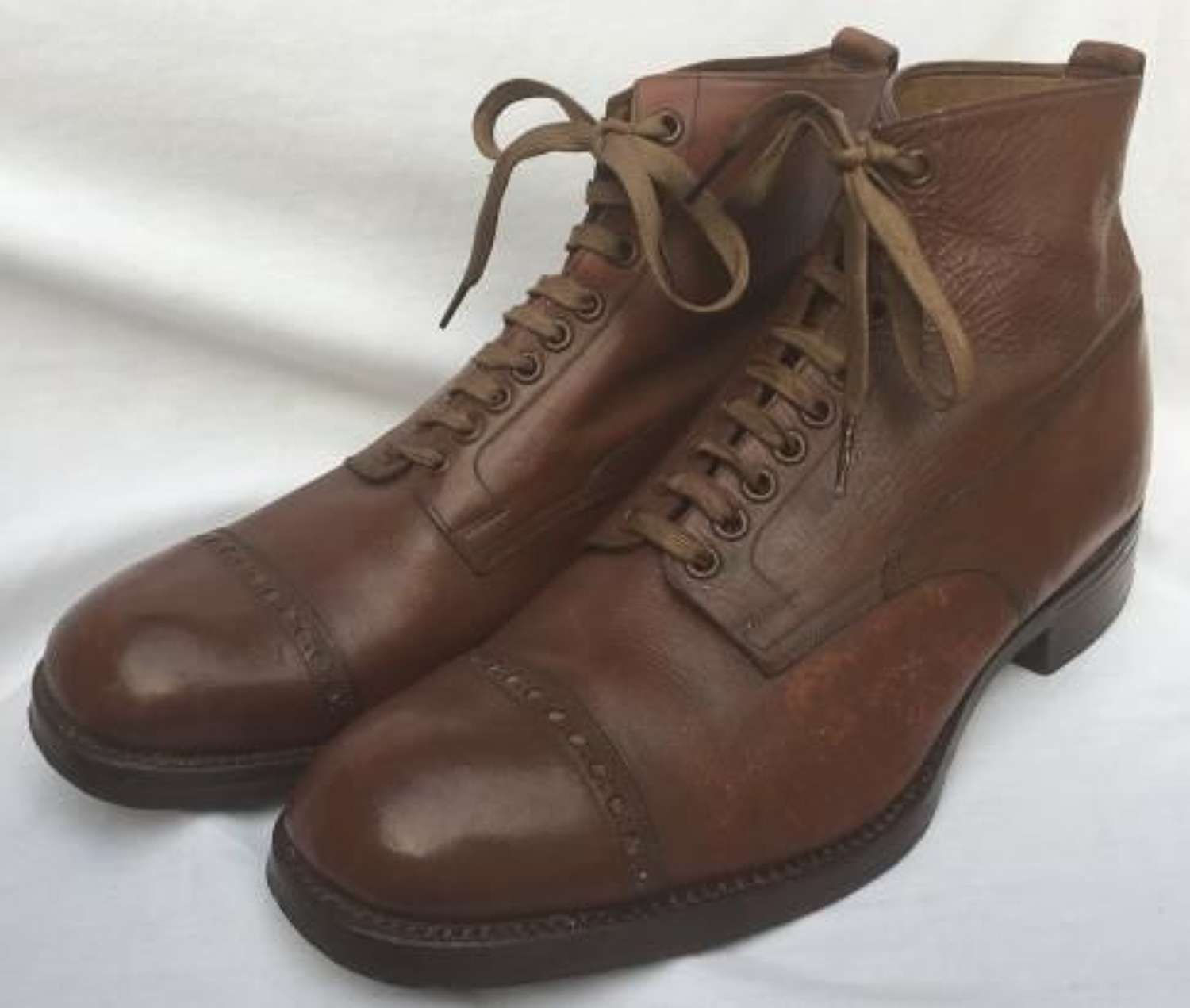 British Army Officers Brown Ankle Boots Size 10