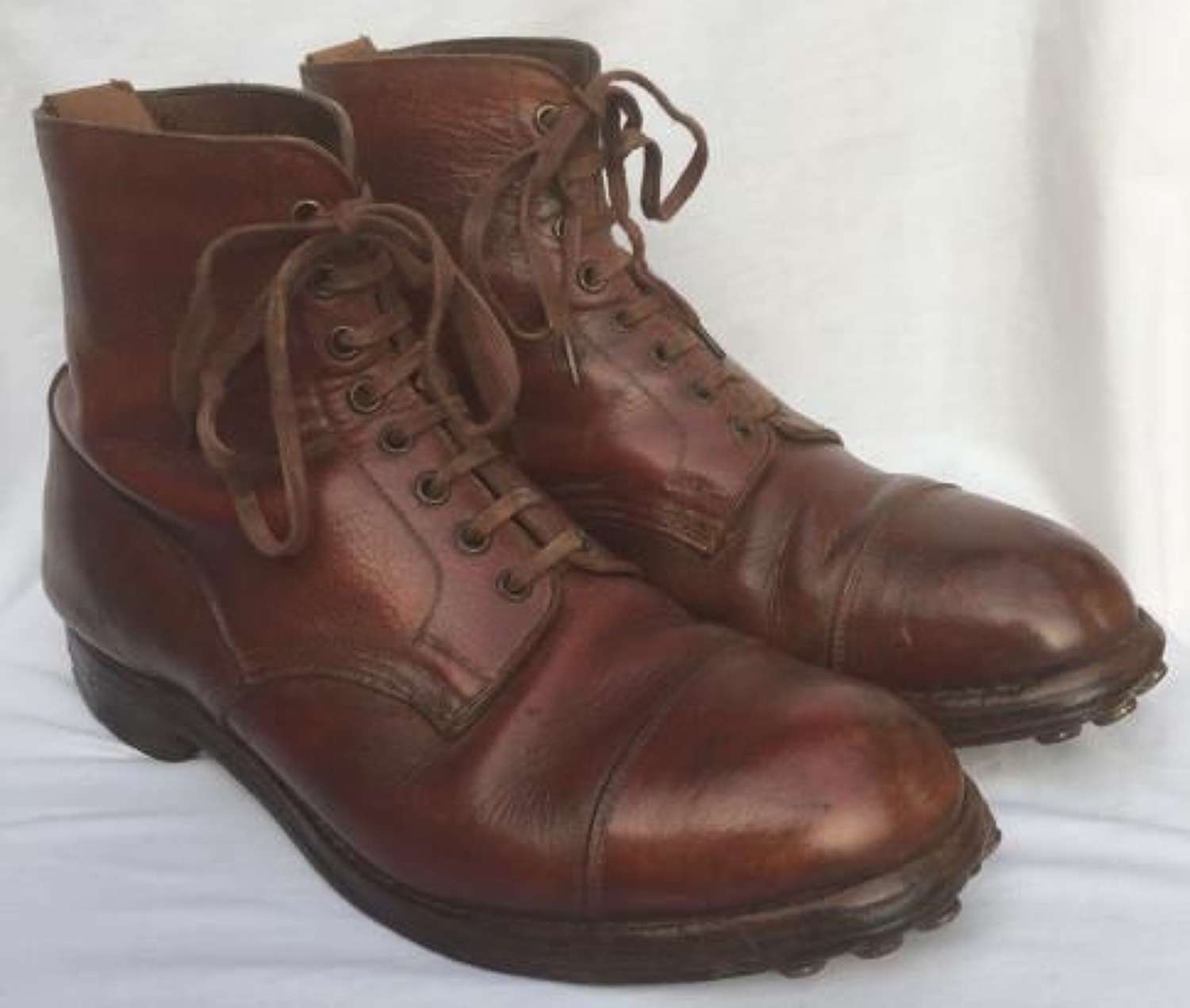1944 Dated British Army Officers Boots Size 7