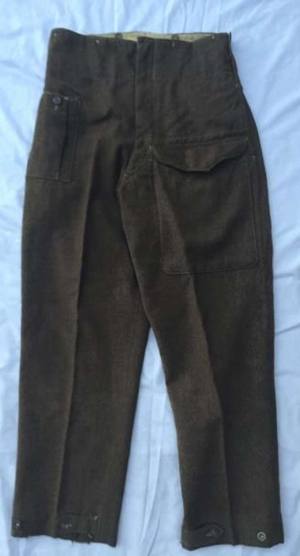 Original 1937 Pattern Battledress Trousers Dated 1941