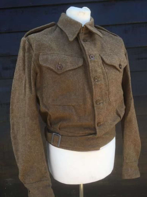 1940 (Austerity) Pattern Battledress Blouse Dated 1944. Large Size 16